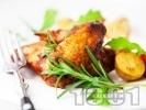 Рецепта Печени пилешки крилца на скара в марината от шипков мармалад и тъмна бира на фурна